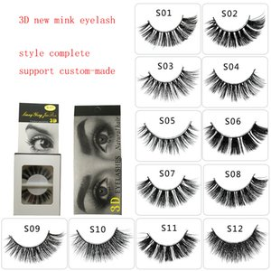 twelve styles S01-S12 3D mink hair eyelshes fase lashes thick cross eyelash extansion beauty tools simulation eyelash shipping free