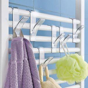 1PC Hanger For Heated Towel Radiator Rail Clothes Hanger Bath Hook Holder Plegable Scarf Bathroom Accessories