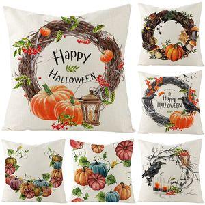 Cover Halloween Linen Pillow 2020 New Home Sofa Cushion Waist Pillow Cover