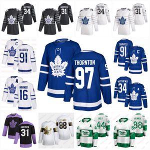 97 Joe Thornton Toronto Maple Leafs 2020 John Tavares Auston Matthews Simmonds Mitch Marner Brodie Andersen Rielly Bogosian Nylander Jersey