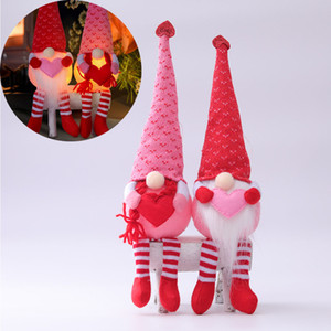 Valentines day decorations glowing gnomes faceless doll Valentines day gifts love gnomes decoration ornament doll doll XD24449