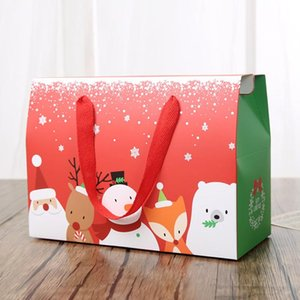 Large Dessert Gift Box Christmas Cartoon Animals Packing Box Sealed Storage Paper Durable Boxes For Party Favors Festival