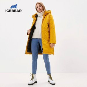 ICEBEAR femmes veste manteau d'hiver Femme avec une parka casual wear capuche marque vêtements GWD20035I 201014