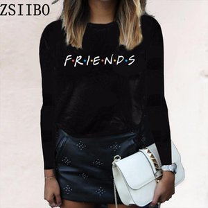 Autumn long sleeved friends English letter Funny t shirt For Lady Girl Top Tee casual Harajuku t shirt casual girl funky clothes