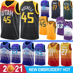 NCAA Donovan 45 Mitchell College Basketball Jerseys Rudy 27 Gobert Joe 2 Ingles John 12 Stockton Ricky 3 Rubio 32 Malone 10 Conley