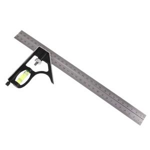 300 mm ajustable de medición Escuadra combinada Regla ángulo regla recta