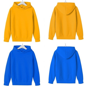 Kids Sweatshirts Girls Boys Candy Color Cotton Hooded Tops Hoodie Jacket Coat Children Autumn Winter Clothes Clothing G12705