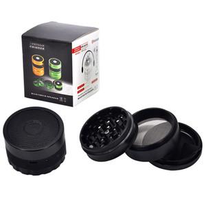 62mm Bluetooth Speakers Herb Tobacco Grinder Metal Pollen Catcher Tobacco Grinder Smoking Accessories LLA136