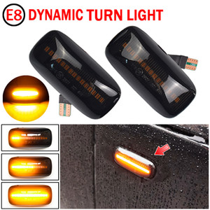 2Pcs LED Dynamic Car Turn Signal Lights For Nissan Almera N15 95-00 Maxima 95-00 Car Side Marker Lights Amber Streamer Light