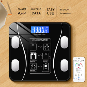 Body Fat Scale Smart Wireless Digital Ванная комната Состав Вес Шкала Body Analyzer С Smartphone App Bluetooth