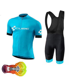 2020 High Quality 2020 Cube Team Road Bike Cycling Jersey Set Men Summer Mountain Bike Clothes Ropa Ciclismo Racing Sports Suit A18