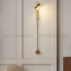 Led Wall Lamp For Living Room Gold Black Rotation Ddjustment Wall Light Modern Stair Aisle Bedroom Bedside Indoor Decor Wall Sconce