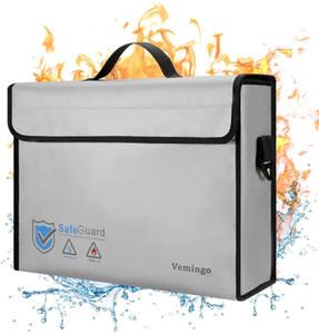 Огнеупорный мешок, 2020 Модернизированного Vemingo водостойкого Holder Противопожарного Документа Противопожарные Безопасный Non-Зуд силиконового покрытия для хранения денег,