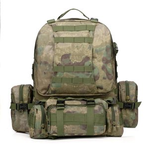 Outdoor sports camouflage backpack Mountaineering cycling rock climbing backpack Multi-color optional waterproof and durable military bag