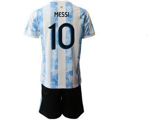 20-21 Personalizado 10 Messi Soccer Jersey Sets Jerseys con shorts Men Custom 21 Dybala 11 di Maria 22 L.Martinez Soccer Jerseys Soccer Conjuntos de fútbol