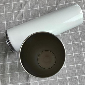 20 OZ DIY Sublimation Tumbler Straight Blank 20oz Stainless Steel Skinny Insulated Tumbler DIY Straight Cups Beer Coffee Mugs In Stock