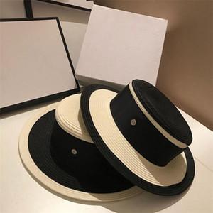 Hepburn نمط القش القبعات الفاخرة الصيف الأعلى القبعات جودة عالية المرأة حوض قبعة واسعة بريم شاطئ القبعات