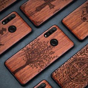 الخشب القضية لهواوي P20 30 ماتي 10 20 30 لايت برو نوفا 4 5 100٪ الطبيعية خشبي TPU حالة الهاتف لهواوي الشرف 10 20 8X ماكس 9X