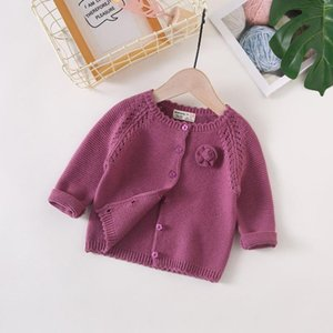 Toddler Girl Knitted Coats 2020 Autumn Winter New Baby Clothes Newborns Girls Cute Solid Sweaters Jackets Baby Girl Outwear Tops