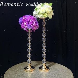 3pcs lot flash wedding Acrylic clear crystal Big Bead flower stand centerpiece for wedding centerpiece event party home decor