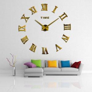 3d Diy Living Room New Acrylic Quartz Watch Wall Clock Clocks Reloj De Pared Home Decoration Hot Sale Sticker Clock
