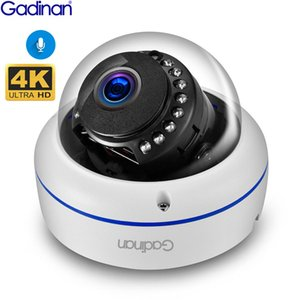 Gadinan 4K 8MP Dome POE IP Camera Built in Microphone Audio CCTV 5MP 3MP Home Security Camera Night vision IP66 H.265AI ONVIF