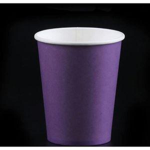 10pcs Pure Color Party Poignée jetable Coupes Juice Coupe Diy Décoration Baby Douche Enfants Jeune anniversaire Noyan Pique-nique Vaisselle Vaisselle