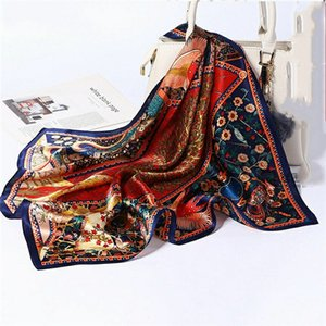 100% mulberry silk 65cm new spring and autumn scarf women's silk high-grade foreign style all-match silk scarf fashion square