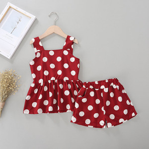 Telotuny bébé bébé fille robe imprimé haute robe ligne de pois de + jupe robe juin