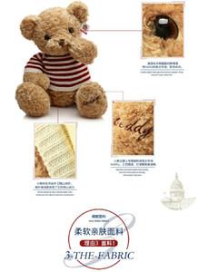 Teddy bear stuffed toy Cuddle doll national flag sweater Bear girl sleeping cute big bear for girlfriend