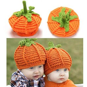 Bbay Hat Halloween Cap Newborn Baby Cute Pumpkin Cap Knit Hat Halloween Costume Photography Prop Warm Fashion Baby Winter