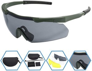 Xaegis Tactical Eyewear 3 Lenti intercambiabili Outdoor Unisex Shooting Glasses