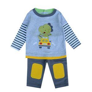 2020 Autumn Cartoon Dinosaur Baby Clothing Set ( Long Sleeve Tops + Pants ) Baby Boy Girl Clothes