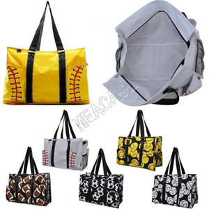 Softball Baseball Ball Game Print Handbag Travel Duffle Bag Canvas Designer Women Shopping Totes Sports Yoga Fittness Shoulder Bags D81311