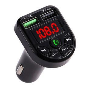 New LED FM Transmitter Bluetooth 5.0 Car kit Dual USB Car Charger 3.1A 1A 2 Port USB MP3 Music Player support TF U Disk