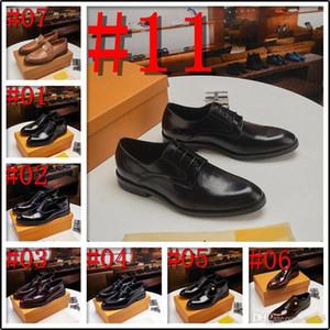 L1 Men Business Dress Shoes Luxury Pelle Pelle Punted Oxfords Shoes Formal Shoes Maschio Party Wedding Footwear 22