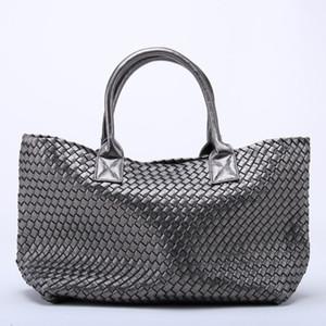 Oloey novas bolsas tecidas imitação saco de pele de carneiro saco de ombro grande capacidade de balde saco tecido bolsa de lona mulheres bolsas de couro C1223