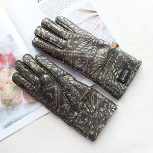 Bickmods Новая кожа с меховыми перчатками Четыре цвета Мода шерстяная подкладка плюс бархатная теплая зимняя охранная защита от овчины 1