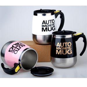 Auto Magnetic Mug Coffee Milk Mix Cups 304 Stainless Steel Tumbler Creative Electric Lazy Self Stirring Mug C19041302