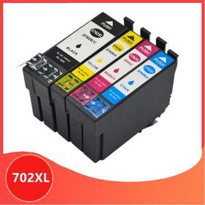 Cartucho de tinta compatível para 702XL 702 XL T702 para WorkForce Pro WF-3720 WF-3725 impressora DWF