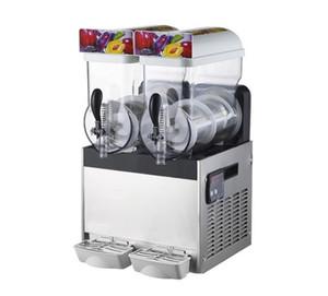 Свободная пересылка 110/22 2 * 15L Замороженные напитки Коммерческого от снега машин Два цилиндра из нержавеющей стали Snow Mud машин Milk Tea Shop