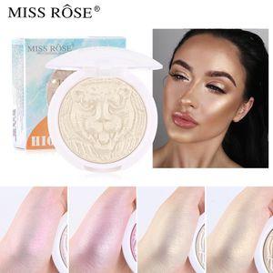 MISS ROSE Brand New Highlighter Facial Bronzers Palette Makeup Glow Face Contour Shimmer Powder Illuminator Highlight Cosmetics 0241