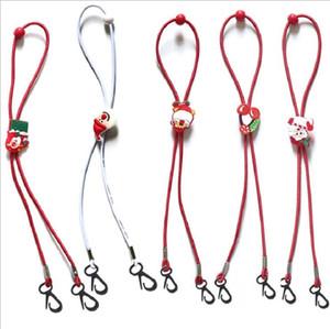 Christmas Children Mask Lanyard Cartoon Extension Hanging Rope Anti Lost Anti Drop Mask Holder Kids Neck adjustable Lanyard Santa Claus
