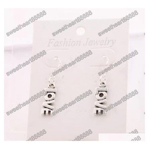 Love Letter Earrings 925 Silver Fish Ear Hook 50pairs lot Antique Silver Ch sqcfEE dh_seller2010