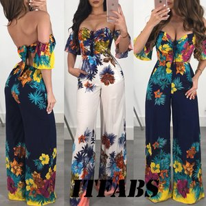 2010 ladies strapless club outfit halter jumpsuit casual short-sleeved party European and American one-piece suit jumpsuit