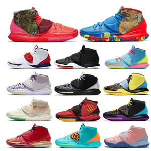2020 Nova Kyrie 6 Ásia Irving Jumpman Homens Sapatos de Baskteball EUA Shot Clock N7 Piscina Neon Graffiti Bruce Lee Mens Trainers Sports Sports
