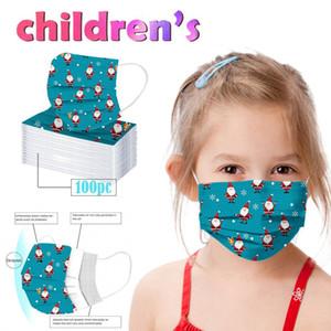 2020 nuova maschera di Natale di stampa capretto maschera usa e getta personalità alla polvere usa e getta e traspirante a tre strati coperchio di protezione liberano la nave