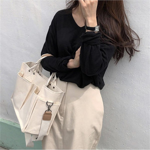 Casual Canvas Große Kapazität Totes Frauen Handtaschen Designer Wide Gurt Schulter Crossbody Taschen Lady Shopper Bag Weibliche große Geldbörsen