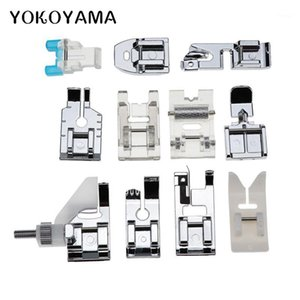 YOKOYAMA 11pcs / set PERSURA PERSONA PERSONA Máquina de coser eléctrica 505A Stealth Zipper Bloqueo de encaje Accesorios de costura1