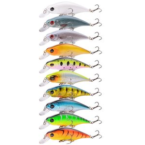 1pc 10 Color 9cm 11.5g Minnow Fishing Hooks Fishhooks 6# Hook Hard Baits & Lures LY_085